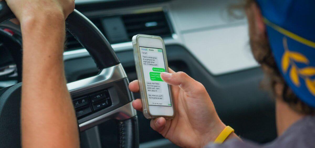 Driving using phone unsafe myosh