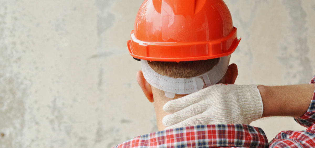 Tradie with Sore Neck