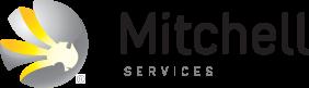 logo mitchell services black text